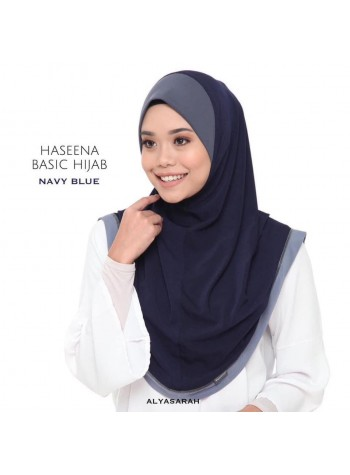 Haseena Basic Hijab - Navy Blue