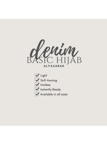 Basic Hijab Denim - Lili Hitam