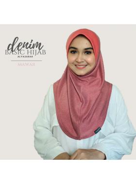 Basic Hijab Denim - Mawar