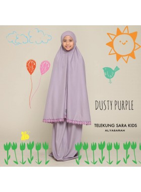 Telekung Kids - Dusty purple