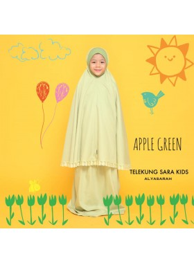Telekung Kids - Apple Green