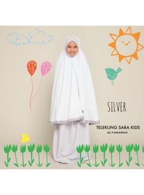 Telekung Kids - Silver