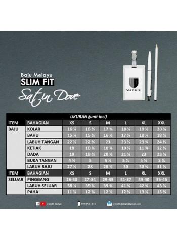 Baju Melayu Satin Dove Slimfit - Mint Green